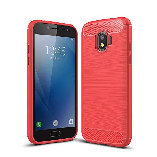 "XMTN Samsung Galaxy J2 2018,Samsung Galaxy J2 Pro 2018 (SM-J250F) 5.0"" Coque,Silicium TPU Housse de Protection Coque pour Samsung Galaxy J2 2018 Smartphone (Rouge)"