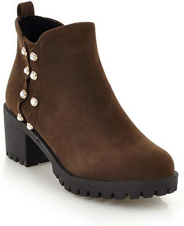 AdeeSu Womens Studded Comfort Bucket-Style Urethane Boots SXC02883