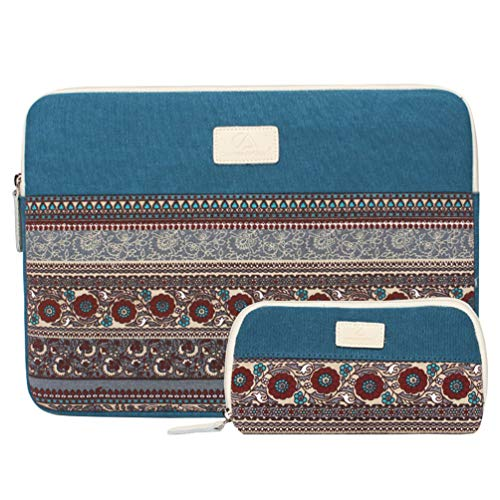Bohemian Canvas Sleeve Case Bag for 11 inch Notebook/Ultrabook DELL ASUS Acer HP Notebook,Sleeve for Mouse
