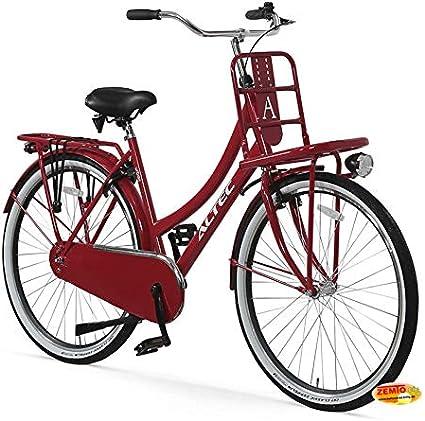 Hooptec Damen Hollandrad 28 Zoll Hoopetec Urban Transportfiets Feuerrot 2019