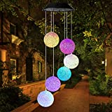 Mosteck Wind Chimes Outdoor, Solar Wind Chimes Color Changing Crystal Ball Wind Chime Best Memorial Birthday Gifts for Mom Grandma Women, Decorative Romantic Patio Lights for Yard Garden Home