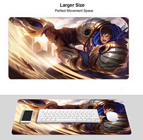 Extended Size Professional Gaming Mouse Pad for League Legends, Stitched Edges Ultra Thick 3Mm (Garen)