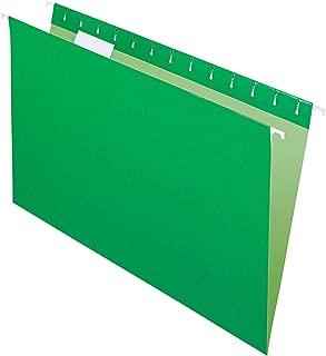 Office Depot 2-Tone Hanging File Folders, 1/5 Cut, 8 1/2in. x 14in, Legal Size, Green, Box of 25, OD81630
