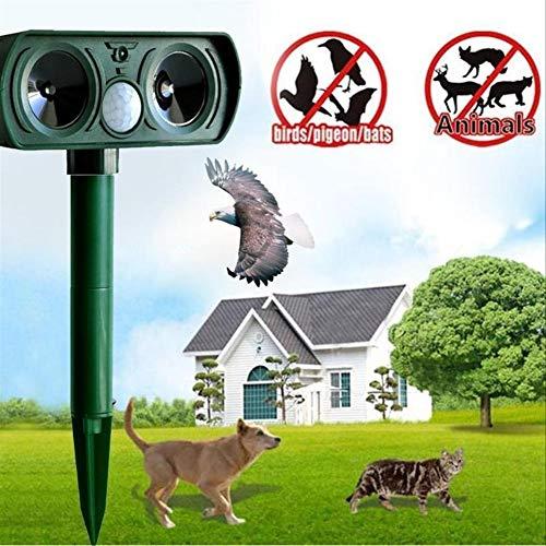 Dispositivo anti-uccello Solar Power Ultrasonic Animal Repeller Mice Chaser del cane del gatto di Fox Uccelli Scoiattoli Repeller Mice Pratica Garden Repeller del parassita Per la decorazione del giar