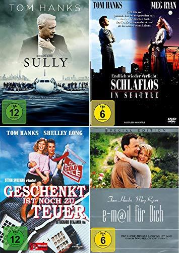 Tom Hanks 4-Filme Collection: Sully + Schlaflos in Seattle + e-Mail für Dich + Geschenkt ist noch zu teuer [4er DVD-Set]