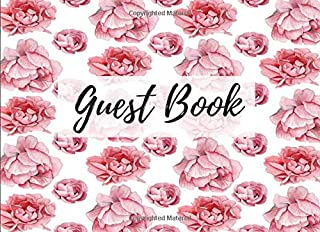 Guest Book: Peony Floral Flower Print (11) - Keepsake Writing Guest Book - For All Occasions & Events [Classic]