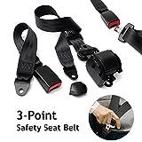 3 Point Adjustable Seat Safety Belt Harness Kit Seat Lap Belt Universal for Go Kart/UTV/Buggies/Van/VR/Truck/Bus/Cars and Vehicles