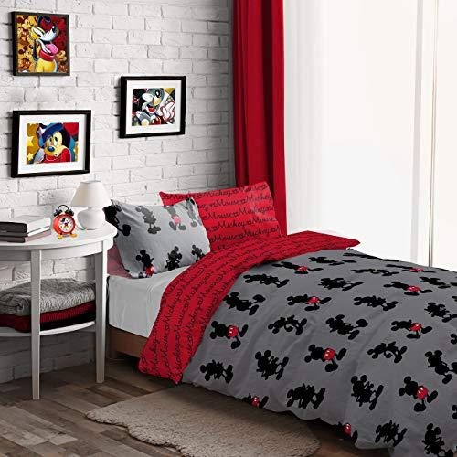 Mickey Mouse Disney Pops of Red Bettwäsche-Set für Einzelbett