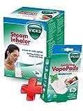 VICKS Inhalateur à Vapeur + VICKS VH7 7 x Tablettes Vapopad Menthol