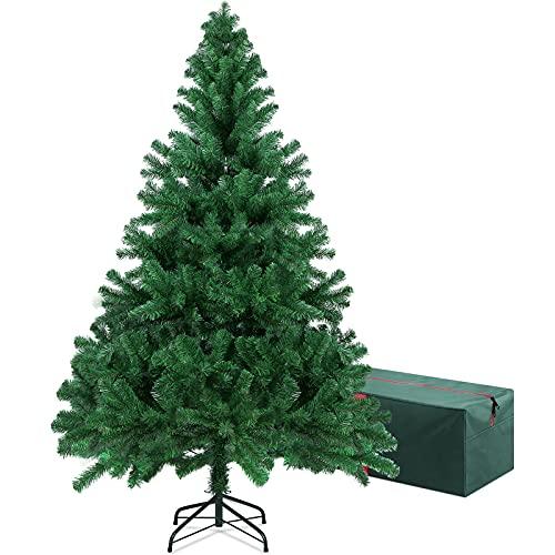 OUSFOT Albero di Natale 180cm con Custodia 800 Rami Supporto Pieghevole in Metallo Alberi di Natale...