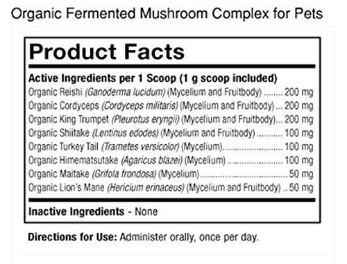 Dr. Mercola Organic Mushroom Complex for Pets, 60g