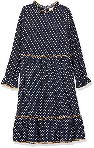 NAME IT Mädchen NKFRIKKIE LS Dress Kleid, Blau (Dark Sapphire Dark Sapphire), (Herstellergröße: 152)