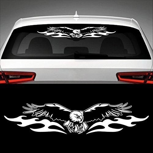Adler Heckscheibenaufkleber 60,0 cm x 13,0 cm Auto Aufkleber JDM OEM Tuning Sticker Decal 30 Farben zur Auswahl