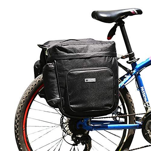 Athyior Alforjas de Bicicleta Impermeable - 28L Tronco Pack Dobles Bolsas con Tiras Reflectantes para Portaequipajes Ciclismo Compras Viaje