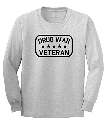 Kings Of NY Drug War Veteran Long Sleeve T-Shirt Small Grey