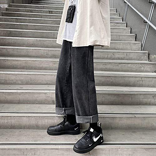Pantalones Vaqueros Rectos Casuales para Hombre, Pantalones Vaqueros De Hip-Hop con Collage para Hombre, Pantalones Vaqueros Holgados De Pareja para Mujer, Ropa