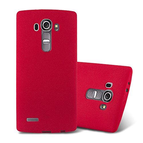 Cadorabo Funda para LG G4 / G4 Plus en Frost Rojo - Cubierta Proteccíon de Silicona TPU Delgada e Flexible con Antichoque - Gel Case Cover Carcasa Ligera