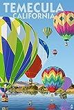 Temecula, California - Hot Air Balloons (24x36 Giclee Gallery Print, Wall Decor Travel Poster)
