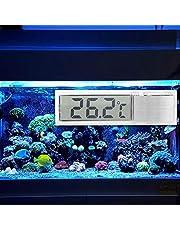 03 Termómetro de Acuario, termómetro Marino único Adhesivo de Dos Caras, termómetro Corporal de Agua Dulce para Exteriores para Interiores