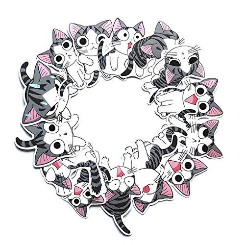 ⭐Top Aufkleber! ⭐ Set von 14 Kleine Katze Chi Aufkleber Premium Qualität - Vinyls Stickers Nicht Vulgär von Chi – Fashion, Bomb, Grafitti, Cool - Anpassung Laptop, Gepäck, Moto, Fahrrad, Skateboard