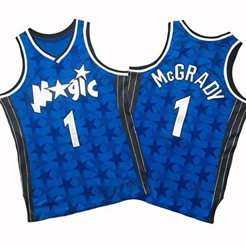 # 1 Tracy McGrady Jersey NBA Orlando Magic Blue Stars Unisex Tops Basketbal Ventilator Outdoor Sport Competitie Suits