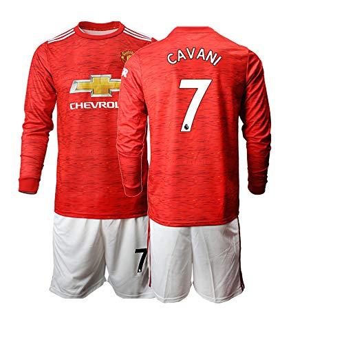 JEEG 20/21 Kinder Cavani 7# Fußball Trikot Jugend Langarm Trainings Anzug (Kinder Größe 4-13 Jahre) (28)