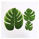 Hibeilinq 10pcs Pequeño Mediano Grande Verdes Hojas Artificiales Tropicales Monstera Hojas de Palma o Hawaianas del Partido del Tema de Alimentos fotografía apoya Flor Artificial (Size : Mix Size)