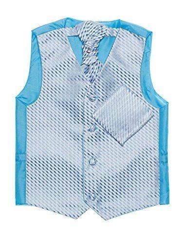 Paisley of London, Niño en azul chaleco, corbata & pañuelo set, Página chico chalecos, 3m - 14 años - Azul, 4-5 years