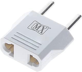 MaxMagic 2 Pin 3 in 1 Universal Conversion Travel Adaptor Plug (220V to 110V, White, 5 Amps)