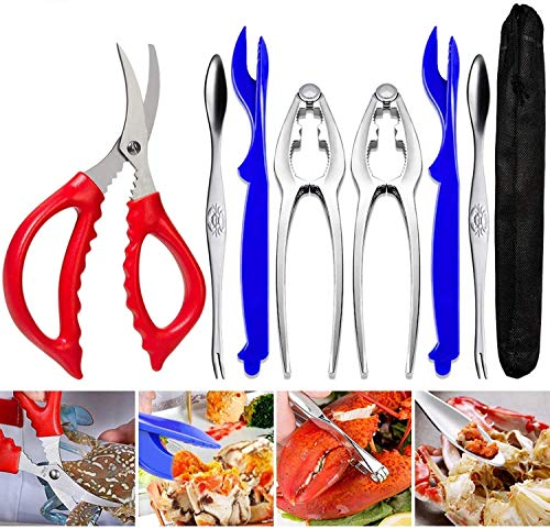 Seafood Tools Crab Crackers Nut Cracker Forks Set Opener Shellfish Lobster Leg Shell Knife Kitchen Accessories
