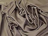Royal Micro Dull Satin Crepe Kleid Stoff Mokka
