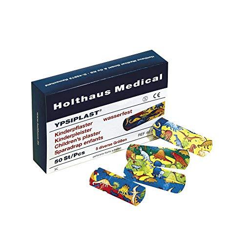 Holthaus Medical YPSIPLAST® Kinderpflaster-Set Wundpflaster Pflasterstrips, Dino-Motiv, 50-teilig