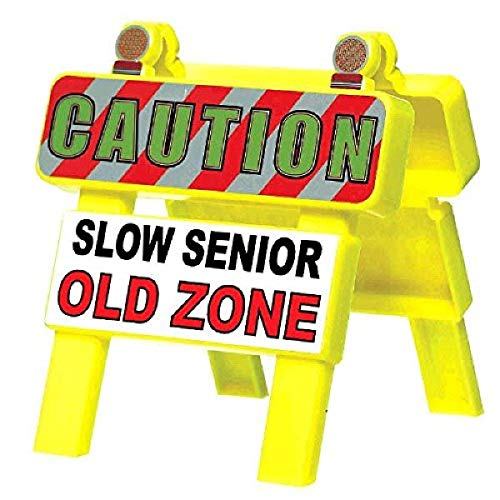 """Amscan Mini """"Old Zone"""" Barricade, Party Favor, 4 1/2"""" x 4 1/4"""", Yellow - 210027"""