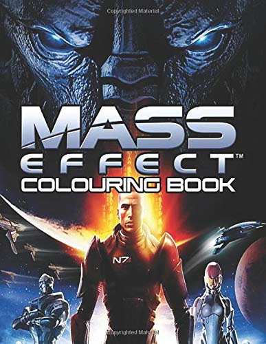 Mass Effect Colouring Book: Join Commander Shepard in the adventurous world of Mass Effect