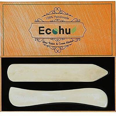 ECOHU Bone Folder Paper Creaser Maker Set Folding Scoring Burnishing Crafting Scrapbooking Tool for Bookbinding, Paper & Leather Crafts, Card Making.