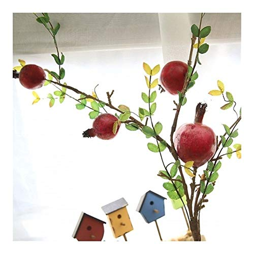 Roovtap 1PCS / Qualitäts-Fälschungs-Granatapfel Berry künstliche Frucht-Fälschungs-Blumen-Hochzeit Bouquet Weihnachtsdekoration Schaumstoff Dried Flower (Color : Red 1pcs)