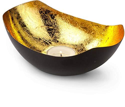 ROMINOX Geschenkartikel Teelichthalter//mit Goldfolienauskleidung, Weihnachten, Grillparty, Valentinstag, Muttertag; Verschiedene Designs (Kaula (ca. 16.3 x 11.1 x 6 cm))