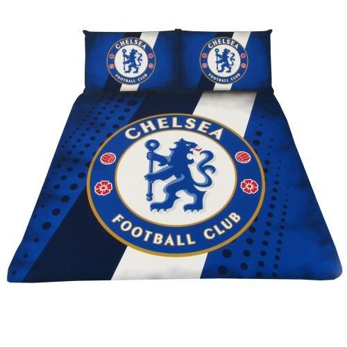 Chelsea FC Stripe Crest Double Duvet Cover & Pillowcase Set