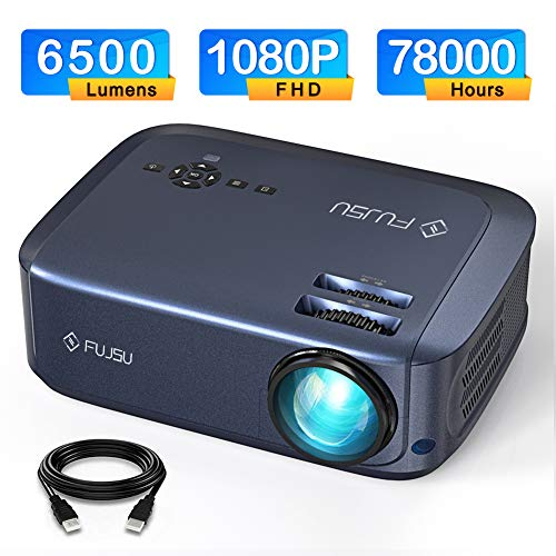 Video Projectors 1080P Video Projector Home Theater Projector with 78000 Hrs Lamp Life, Compatible with Fire TV Stick, PS4, HDMI, VGA, AV and USB