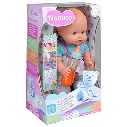 Nenuco - Biberón Mágico Rosa, Muñeco Bebé, para niños y