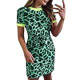 Vestido con print leopardo verde