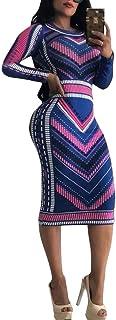 فستان ضيق زهري للنساء - فساتين متوسطة الطول ذات أنماط فريدة من نوعها قلم رصاص