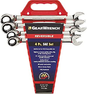 GEARWRENCH 4 Pc. 12 Point Reversible Ratcheting Combination SAE Wrench Completer Set - 9545N