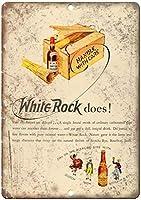 White Rock Wiskey ティンサイン ポスター ン サイン プレート ブリキ看板 ホーム バーために