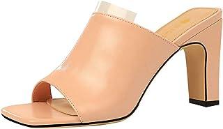 Zanpa Women Fashion Summer Shoes Peep Toe Weave Mules Sandals