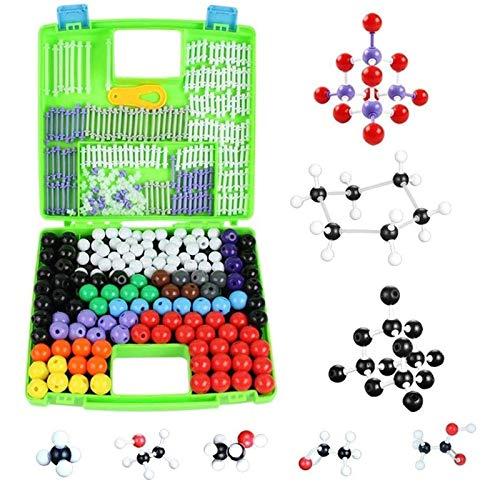 XUNMAIFLB Modelo Molecular, 332 Piezas Kit de Estructura de Bioquímica Inorgánica Orgánica Molecular Modelo de Enlace de átomo para Enseñanza de Educación Infantil