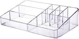 クリアメイクオーガナイザートレイ、リップスティックホルダーディスプレイスタンドリップスティックボックス化粧品ディスプレイケースバニティコンパートメントオーガナイザークリアデスクトップメイク収納ケースメイクブラシ収納