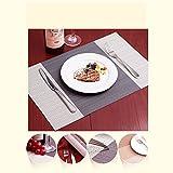 Fontic 6er Set Platzsets 30x45cm Platzdeckchen Rutschfest Abwaschbar Tischmatten PVC Abgrifffeste Hitzebeständig Tischsets, Platz-Matten für küche - 4