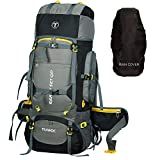 TRAWOC 80L Travel Backpack for Outdoor Sport Camp Hiking Trekking Bag Camping Rucksack HK007 (Grey)...