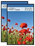 MCS Original Poster Frame, 22.375 x 34 Inch, Black, Set of 2